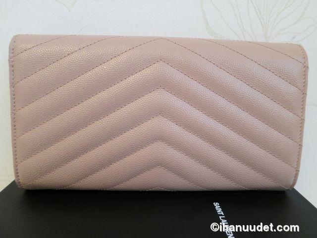 Saint Laurent Monogram Rose Wallet5.JPG